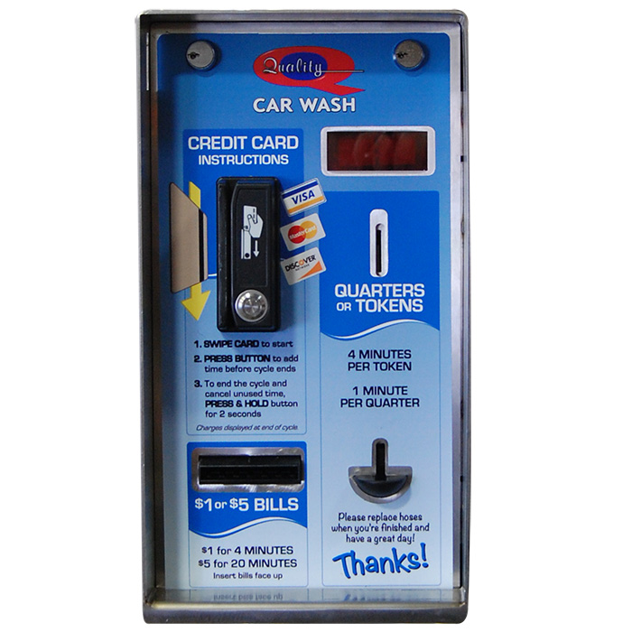 Credit and Cash Vacuum pay box