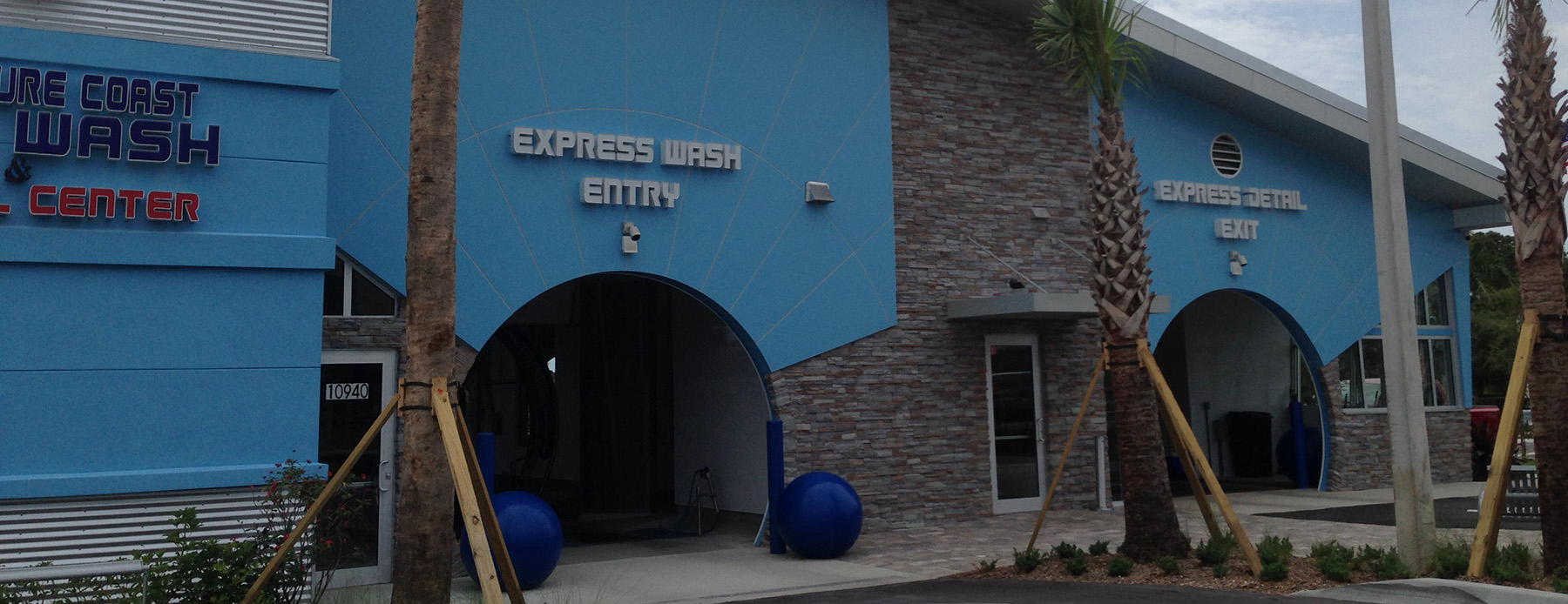 Car Wash Entrance and Exit Design