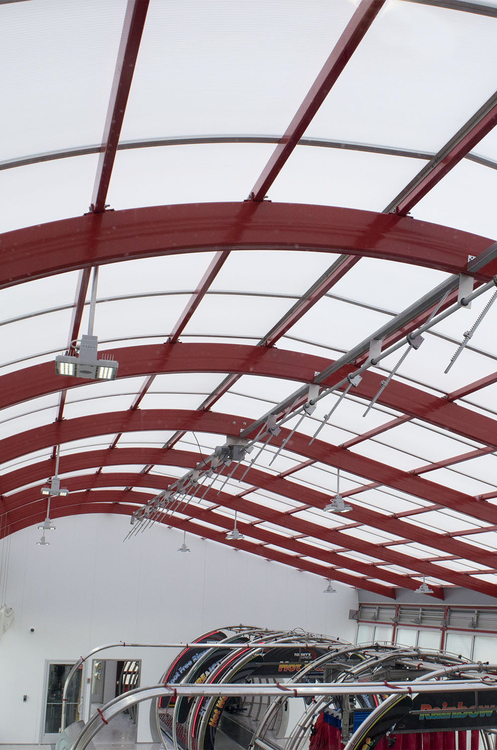 Clear Modern Car Wash Roofing